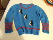 Kinderpullover Kinderkleidung Pinguine Handarbeit Pullover