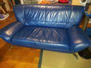 2x 2-Sitzer Sofa Coach royalblau