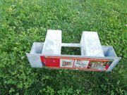 6x Holzstapelhalter Metall für Pfosten