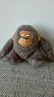 Affe Stofftier Kuscheltier Braun Gebraucht