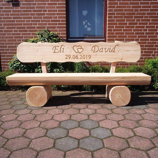 Gartenbank Hochzeitsgeschenk