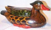 Deckeldose in Entenform aus Keramik -
