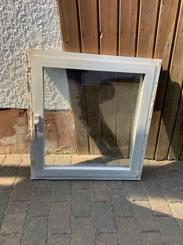 Alufenster doppeltverglast Fenster Aluminium silber