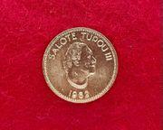 Goldmünze Tonga 1 4 Quarter
