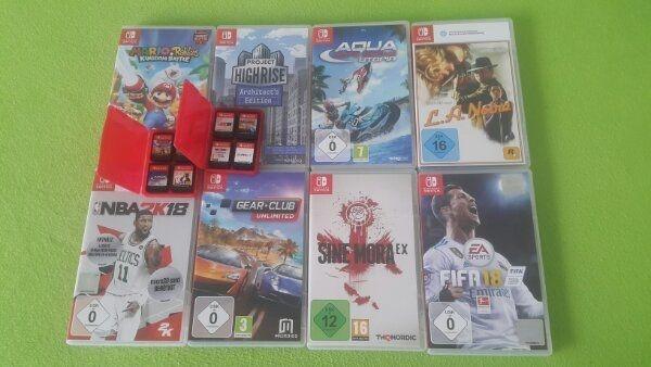 Nintendo Switch 8 Spiele Hüllen