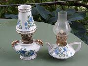 Petroleumlampen 2 Stück Porzellanfuß Blumen