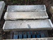 Granit Treppenstufen Granitsockel Zaunanlage Fragmente