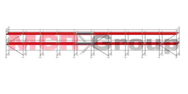 Fassadengerust 195qm Neu typ Plettac