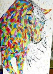 Acrylmalerei Pferd auf Leinwand mit