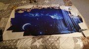 wandbild 3D Vinyl nachthimmel