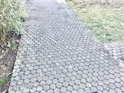 München-Englschalking runde und wabenförmige Pflastersteine