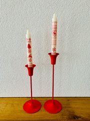 Kerzenständer rot 2 Stk