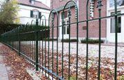 Zierzaun Gartenzaun Metall SCHWERES MODELL