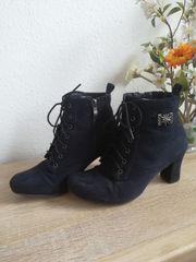 Stiefel Stiefelette ungefüttert schwarz Größe