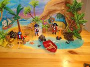 Playmobil-Pirateninsel und Krake
