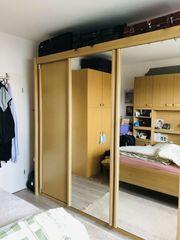 Kleiderschrank helle Eiche mit Spiegel-