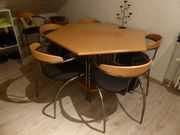 Esszimmertisch sechseckig mit 6 Stühlen