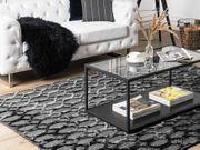Teppich dunkelgrau 140 x 200