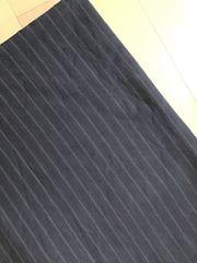 Stoff mit Nadelstreifen schwarz Bekleidungsstoff