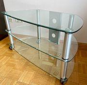 Phonowagen TV-Bank TV-Tisch TV-Board Klarglas