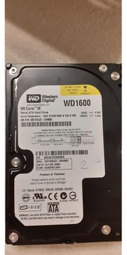 Festplatte WD Caviar 1600 SD