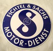 Emailschild - Fichtel Sachs - Retro-Schild