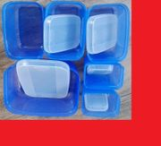Div Tupperware blau gelb rot