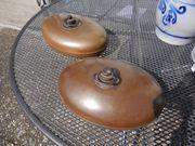 2 alte Wärmflaschen aus Kupfer