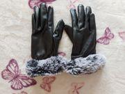 Handschuhe schwarz grau NEU