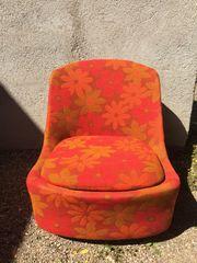 70er Jahre Sessel mit Rollen
