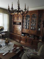 Wohnzimmer Schrank Schrankwand massiv