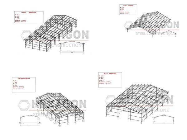 Stahlkonstruktionen fertige Projekte