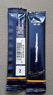 2x Klarinette -Blättchen Stärke 2