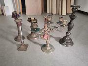 Alte Kerzenständer Bronz und Messing