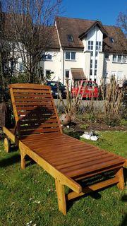 2 x Sonnenliege -Gartenliege Echtholz
