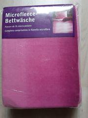 Microfleece-Bettwäsche rosa 135x200 cm