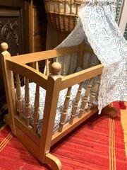 Sale Puppenwiege Massivholz 60cm