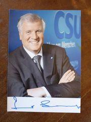 Horst Seehofer Autogramm - original