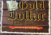 Original Gold Dollar Zigaretten Werbeplakat