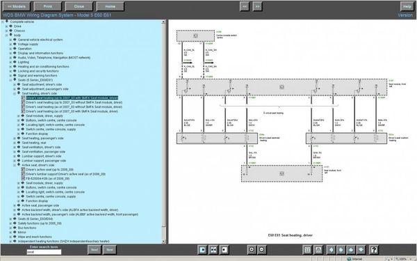 BMW WDS V 15.0 Wiring Diagram System Schaltpläne auf US Englisch in Wds Bmw Wiring Diagram Online on