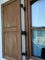 Fensterläden Halterungen Beschläge Abstandshalter gebraucht