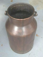 Alte Kupfer - Milchkanne