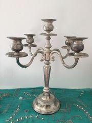 Fünfarmiger Kerzenleuchter aus Silber