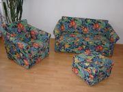 Couchganitur mit Sessel 2-Sitzer und