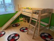 Paidi - Kinderhochbett mit Rutsche und