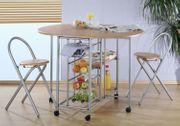 Küchenbar klappbar mit 2 Stühlen