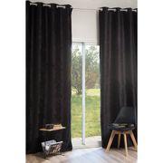 Vorhang au schwarzem Samt Ösenvorhang