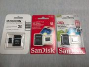 3x micro SDHC Speicherkarte 32