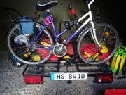 Trekkingrad und Fahrradträger AHK