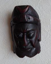 Indonesische Holzmaske Deko Maske Wanddekoration